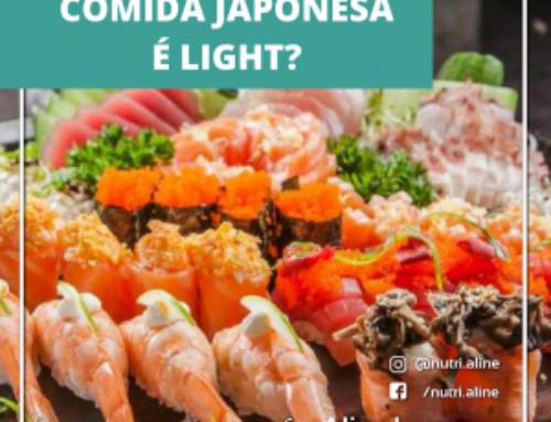 Comida japonesa é realmente light?
