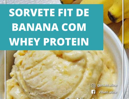 Sorvete fit com Whey Protein
