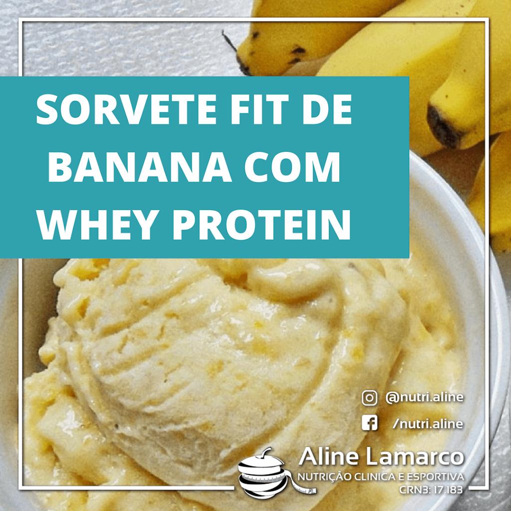 Sorvete de Banana Whey Protein